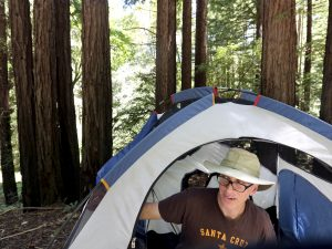 'Under the Stars' author Dan White takes a humorous peek into the history of American camping in his new book. (Shmuel Thaler -- Santa Cruz Sentinel)